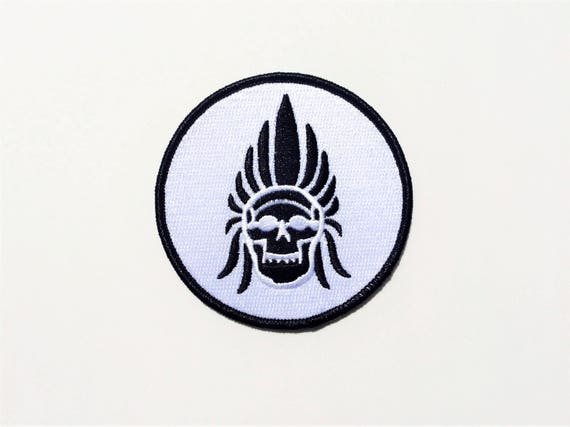 Voodoo Headdress Chief Native American Skull The Shining Biker Indian Motorcycle Spirit Embroidered Biker Patch