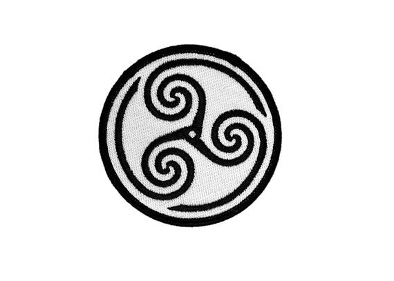 Triskelion Protection Celtic Gypsy Traveler Hippie Fusible Embroidered Biker Patch