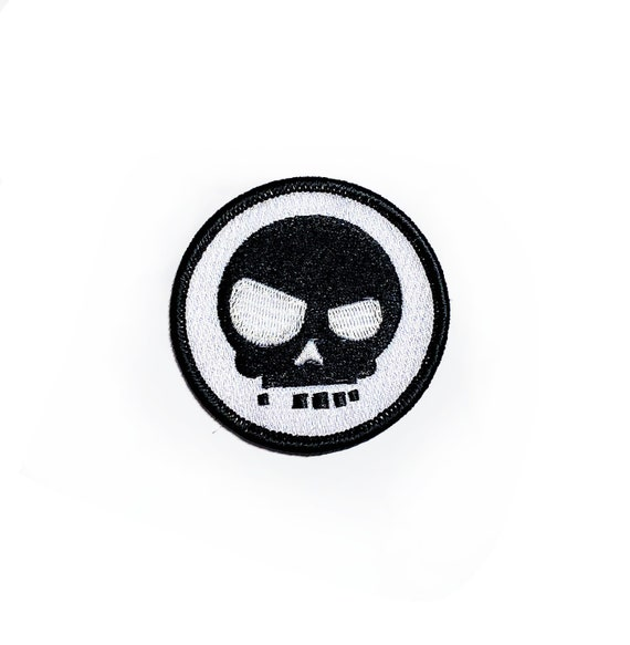 Cute Funky Devilish Skull Embroidered Patch Iron on Patch