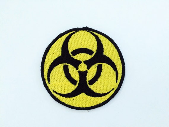 Bio Hazard Embroidered Motorcycle Patch Fallout Videogame Punk
