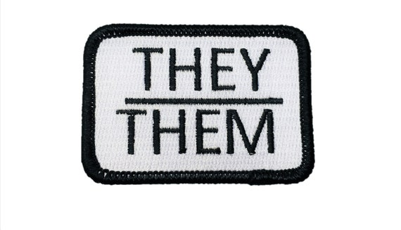 They/Them Pronouns Gay Pride Patch LGBTQ+