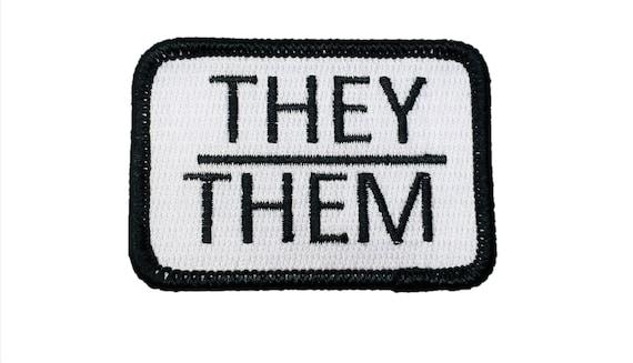 They/Them Pronouns Gay Pride Patch LGBTQ+