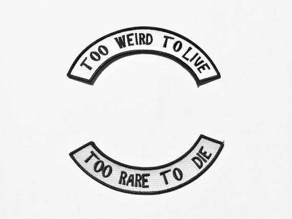 Hunter S. Thompson Iron On Too Weird to Live Too Rare to Die Fear and Loathing in Las Vegas Quote 70s Fist of Gonzo Patch