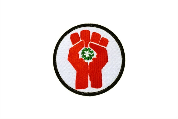 Fist of Gonzo Hunter S. Thompson Fear and Loathing Antifascist Raoul Duke Embroidered Motorcycle Patch