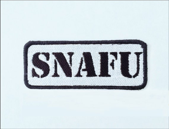 SNAFU Embroiderer Military Motorcycle Patch