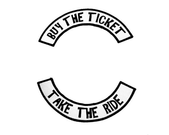 Gonzo Gift for Journalist, Present for Writer, Hunter S Thompson, Gonzo, Fear and Loathing, Buy the Ticket, Take the Ride. Bike Patch