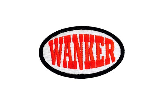 Gift for Under 10 Iron On Patch Wanker Funny Profane Punk Grunge Curse English Invasion Biker Vest Motorcycle Jacket