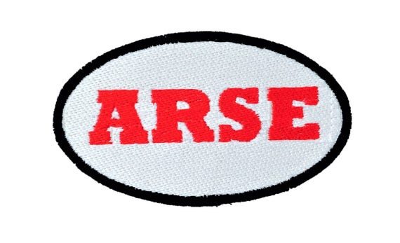 English Mod Arse Scotland Profane Embroidered Motorcycle Patch