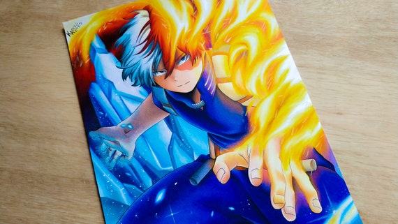 Todoroki Shoto My Hero Academia Original Drawing