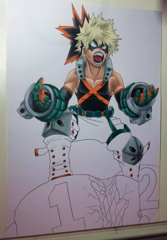 Katsuki Bakugou 01 My Hero Academia Original Drawing
