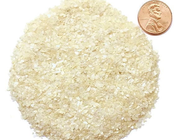 NATURAL, Crushed Mother of Pearl for Stone Inlay, Mineral Art, or Handmade Jewelry - Medium (select amount)