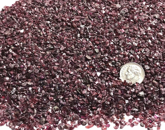 NATURAL, Crushed Red Garnet (Pyrope) for Stone Inlay, Mineral Art, or Handmade Jewelry - Coarse (select amount)