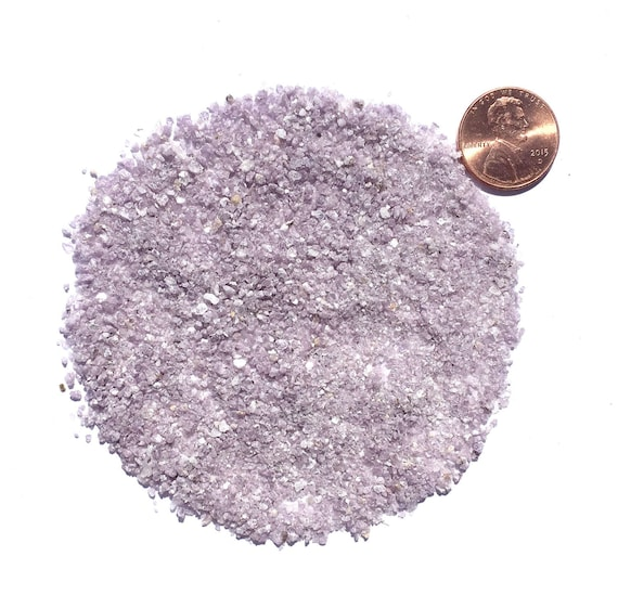 NATURAL, Crushed Lilac Lepidolite Mica for Stone Inlay, Mineral Art, or Handmade Jewelry - Medium (select amount)