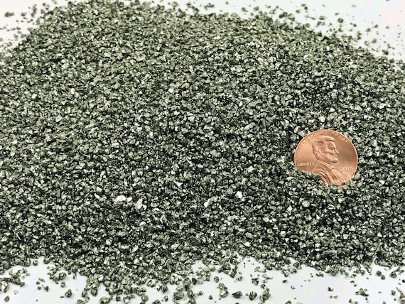 NATURAL, Crushed Pyrite or Fool's Gold for Stone Inlay, Mineral Art, or Handmade Jewelry - Medium, 1 Ounce