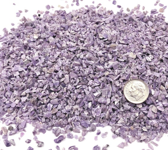 NATURAL, Crushed Charoite for Stone Inlay, Mineral Art, or Handmade Jewelry - Coarse (select amount)