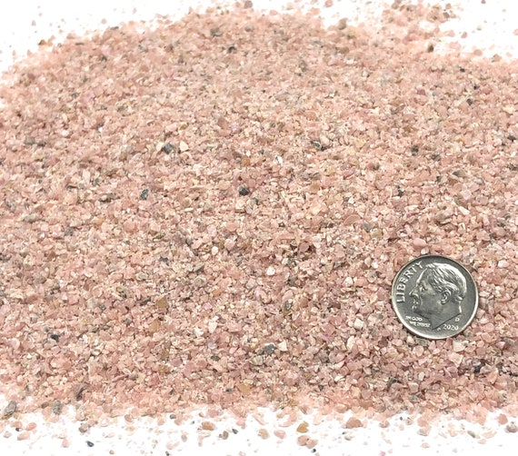 NATURAL, Crushed Rhodochrosite for Stone Inlay, Mineral Art, or Handmade Jewelry - Medium (select amount)