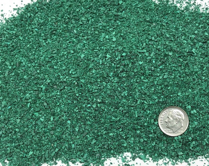 Featured listing image: Crushed Malachite (Grade A) for Stone Inlay, Mineral Art, or Handmade Jewelry - Medium (select amount)