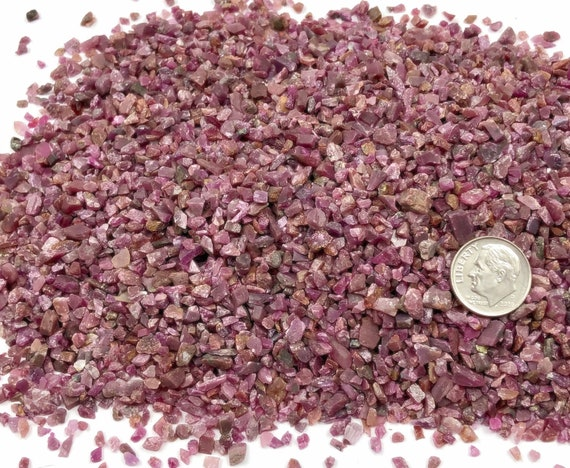 NATURAL, Crushed Ruby for Stone Inlay, Mineral Art, or Handmade Jewelry - Coarse (select amount)