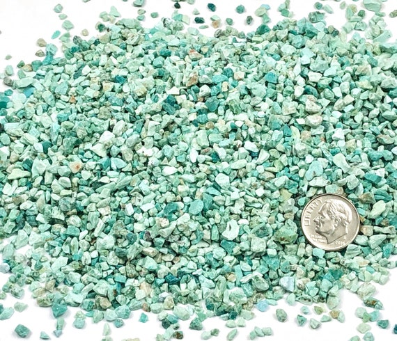 NATURAL, Crushed Light Chrysocolla for Stone Inlay, Mineral Art, or Handmade Jewelry - Coarse (select amount)