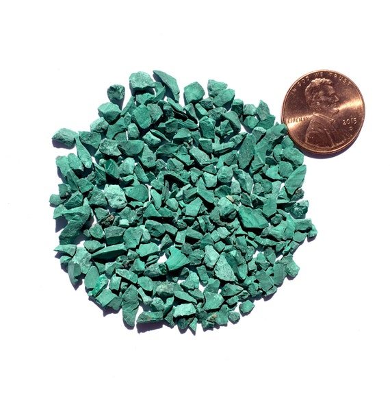 NATURAL, Crushed Malachite for Stone Inlay, Mineral Art, or Handmade Jewelry - Coarse (select amount)