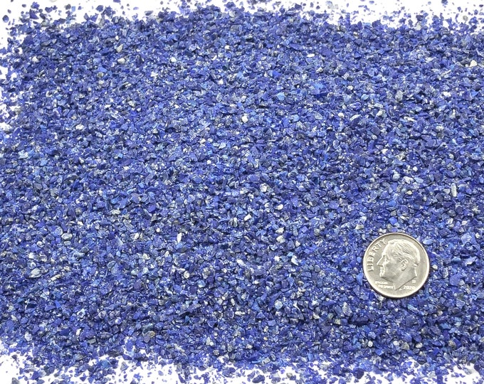 Featured listing image: Crushed PREMIUM Lapis Lazuli for Stone Inlay, Mineral Art, or Handmade Jewelry - Medium (select amount)