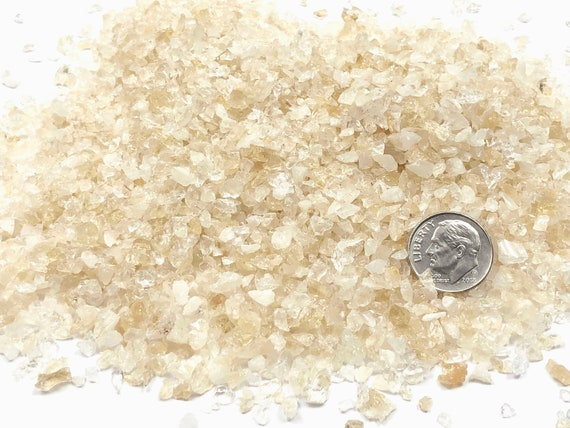 NATURAL, Crushed Citrine for Stone Inlay, Mineral Art, or Handmade Jewelry - Coarse (select amount)