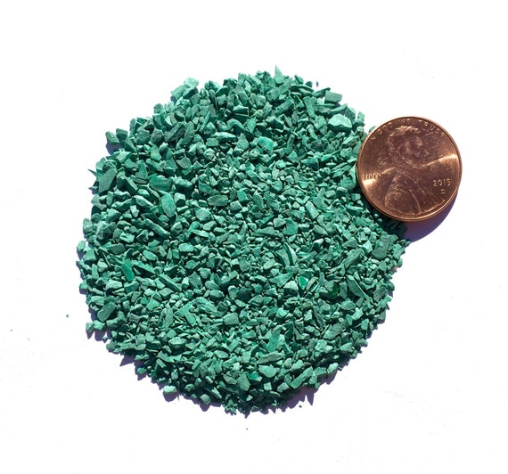 NATURAL, Crushed Malachite for Stone Inlay, Mineral Art, or Handmade Jewelry - Medium (select amount)