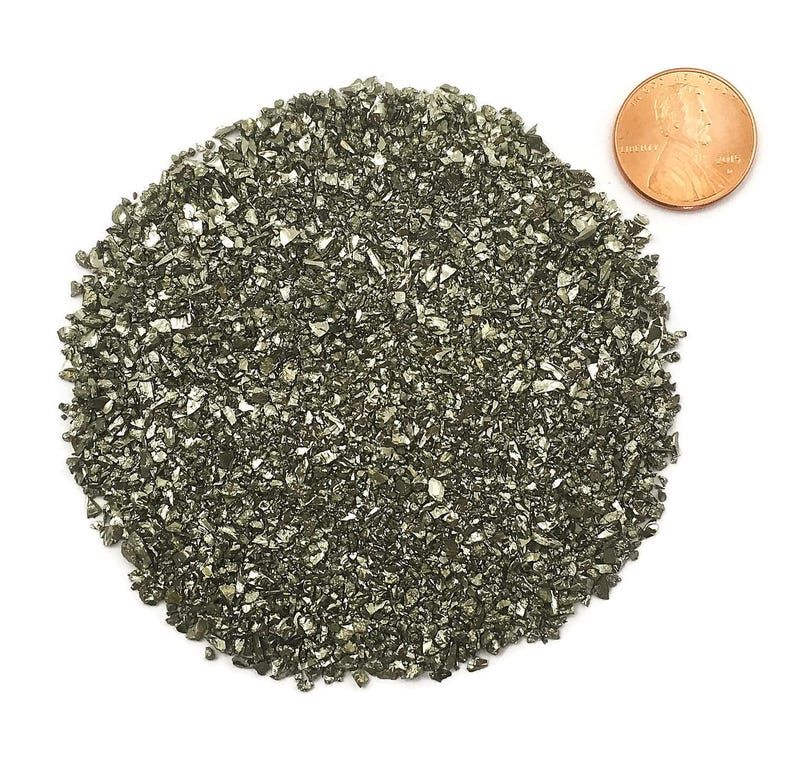 NATURAL Crushed Pyrite or Fool's Gold for Stone Inlay image 0