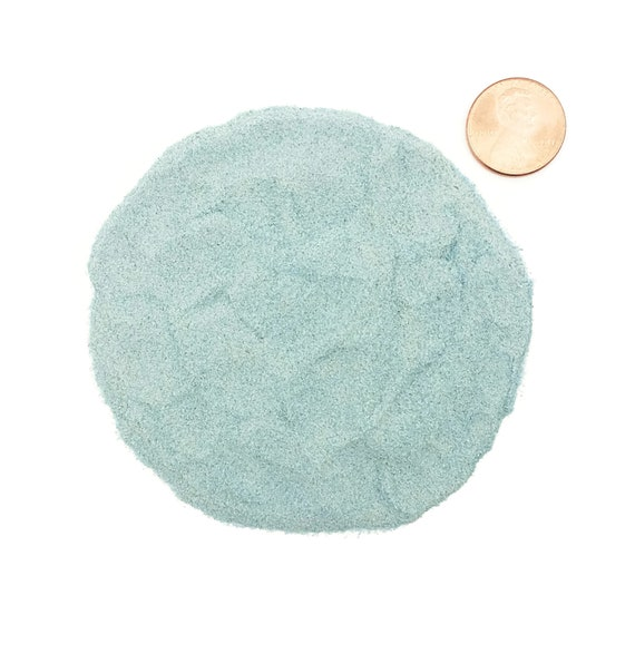 NATURAL, Crushed Blue Apatite for Stone Inlay, Mineral Art, or Handmade Jewelry - Powder, 1/2 Ounce