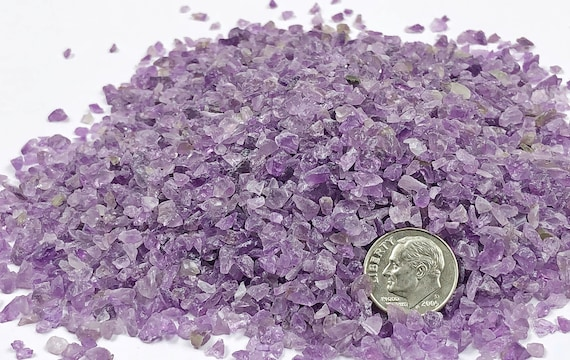 NATURAL, Crushed Amethyst (A Grade) for Stone Inlay, Mineral Art, or Handmade Jewelry - Coarse (select amount)