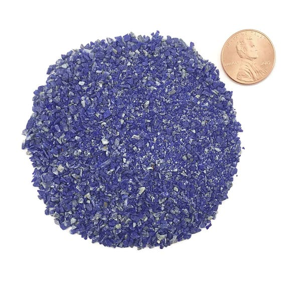 NATURAL, Crushed, Grade A Lapis Lazuli for Stone Inlay, Mineral Art, or Handmade Jewelry - Medium (select amount)