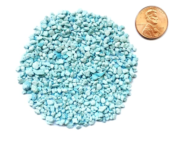 Crushed, A Grade, Sleeping Beauty Turquoise Stone Inlay, Coarse, 1/2 Ounce