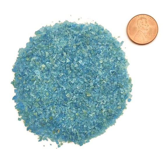 NATURAL, Crushed Blue Apatite for Stone Inlay, Mineral Art, or Handmade Jewelry - Medium (select amount)