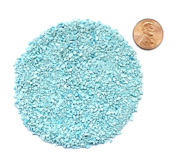Crushed, Grade A, Sleeping Beauty Turquoise Stone Inlay, Medium, 1/2 Ounce