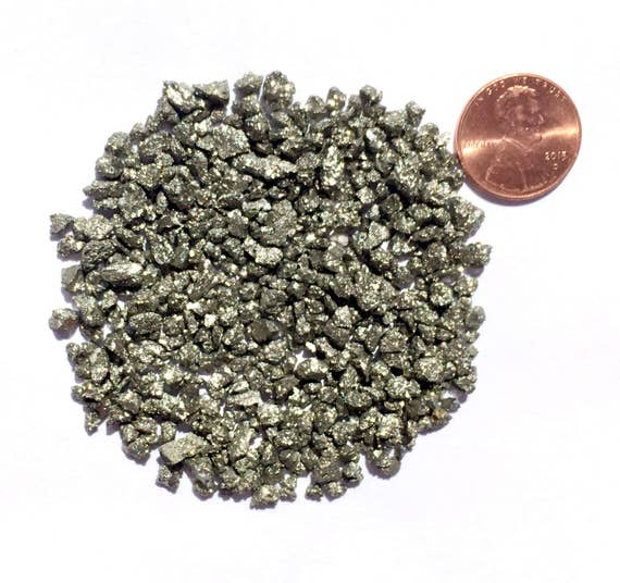 NATURAL, Crushed Pyrite or Fool's Gold for Stone Inlay, Mineral Art, or Handmade Jewelry - Coarse (select amount)