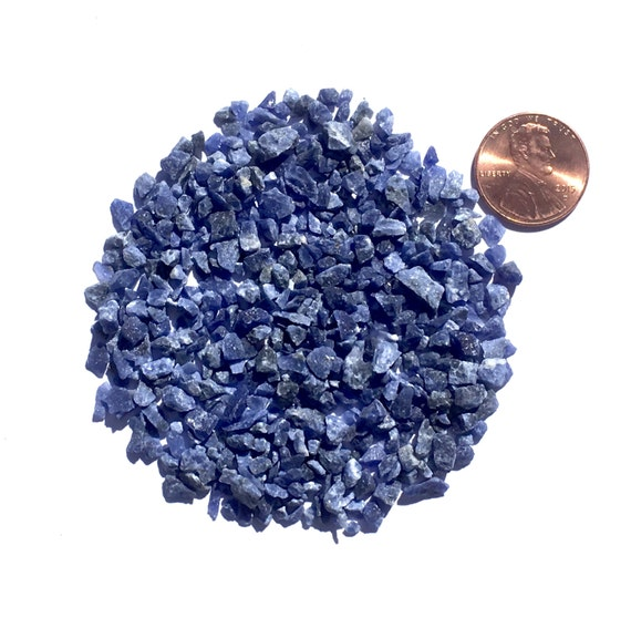 NATURAL, Crushed Sodalite for Stone Inlay, Mineral Art, or Handmade Jewelry - Coarse (select amount)