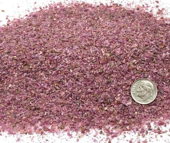 NATURAL, Crushed Ruby for Stone Inlay, Mineral Art, or Handmade Jewelry - Medium (select amount)