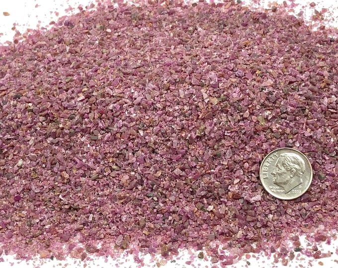 Featured listing image: NATURAL, Crushed Ruby for Stone Inlay, Mineral Art, or Handmade Jewelry - Medium (select amount)
