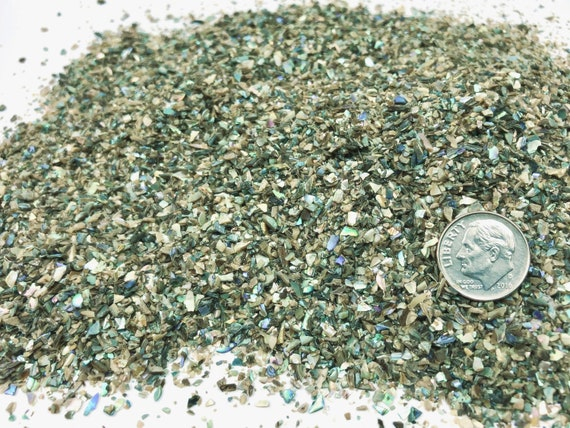 NATURAL, Crushed Abalone for Stone Inlay, Mineral Art, or Handmade Jewelry - Medium (select amount)
