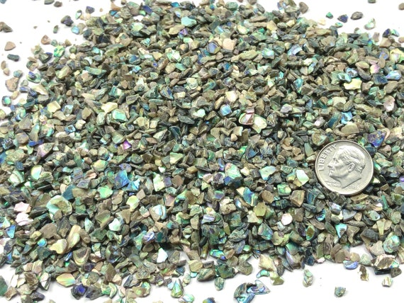 NATURAL, Crushed Abalone for Stone Inlay, Mineral Art, or Handmade Jewelry - Coarse (select amount)