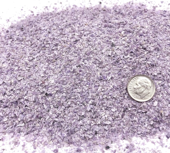 NATURAL, Crushed Charoite for Stone Inlay, Mineral Art, or Handmade Jewelry - Medium (select amount)