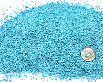 Crushed Turquoise (Lab-Created) for Stone Inlay, Mineral Art, or Handmade Jewelry  - Medium (select amount)