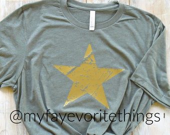 771855ed Army Strong- Gold Star- Everyday Tee- Soldier- Military- Welcome Home-  Supportive- Go Army- Military Pride- Gold- Welcome Home- Homecoming