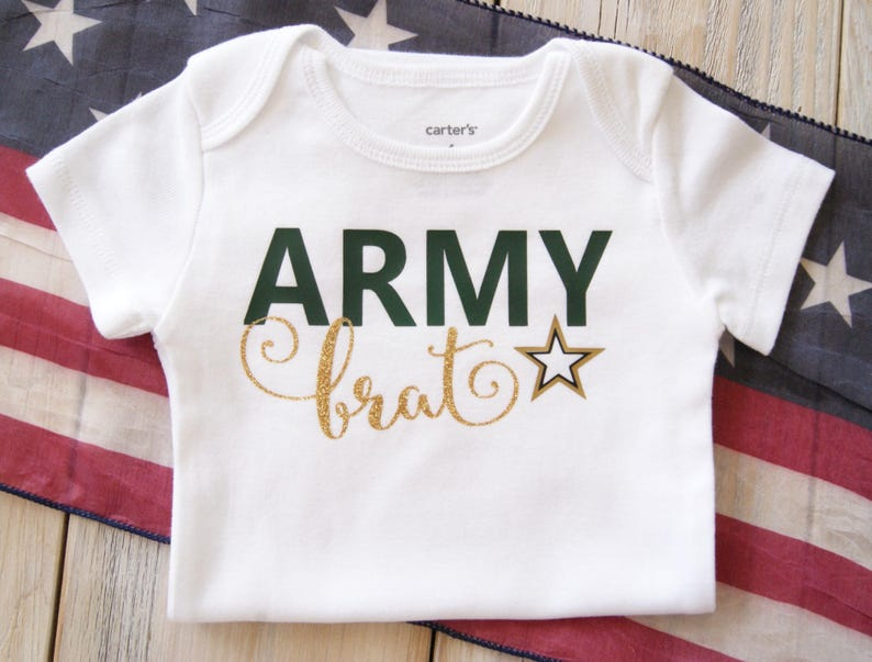 dc58bdff Army Brat Baby Boy or Girl Bodysuit Baby Gift Custom | Etsy