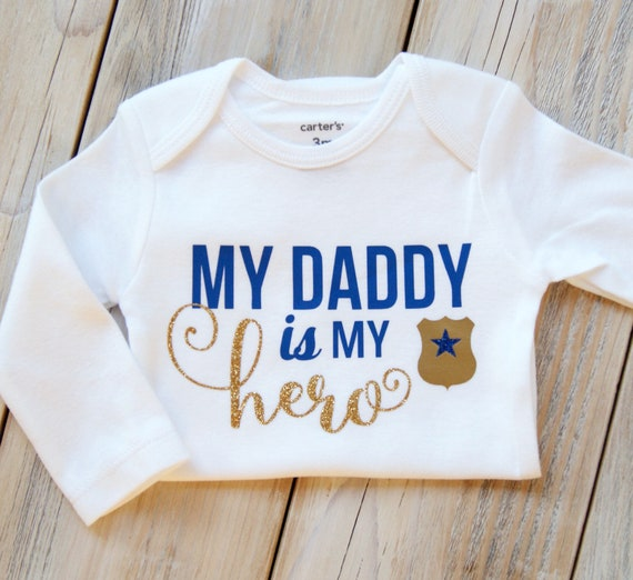 My Daddy Is My Hero Police Police Etsy