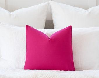 Eurosham or Lumbar Pillow Accent Pillow Schumaker Champagne and Rose pink Embosed  Design Pillow Cover Throw Pillow