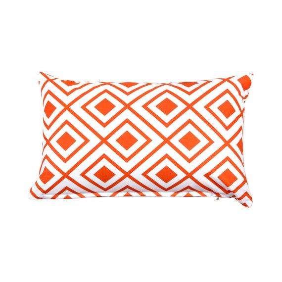 Orange lumbar pillow | Etsy