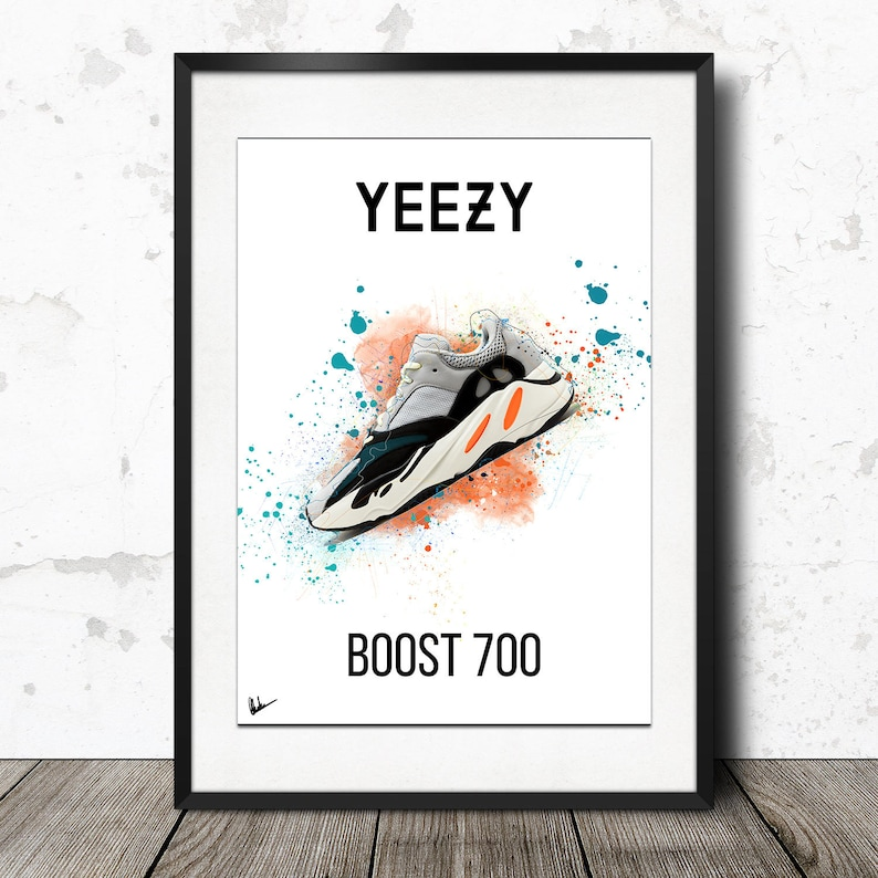 432142c8d13 Adidas Yeezy Boost 700 Wave Runner Poster Artwork Limited