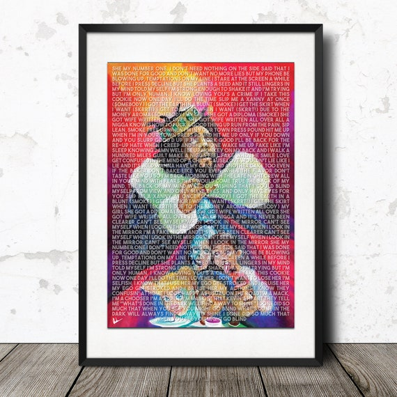 J Cole Kod Lyric Poster Print A4 A3 Limited Edition Etsy