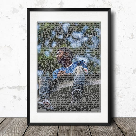 J Cole Love Yourz Forest Hills Drive Lyric Poster Print A4 Etsy